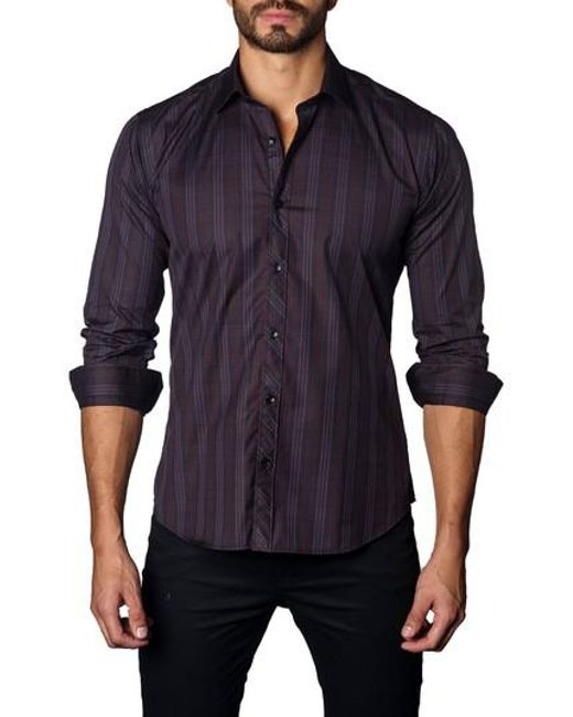 Jared Lang | Blue Trim Fit Plaid Sport Shirt for Men | Lyst