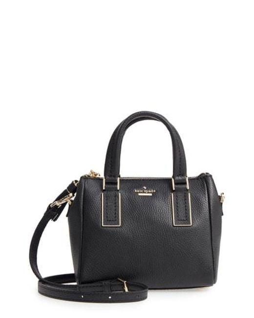 Kate Spade - Black Kingston Drive - Mini Alena Leather Crossbody Bag - Lyst