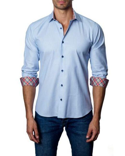 Jared Lang | Blue Trim Fit Sport Shirt for Men | Lyst