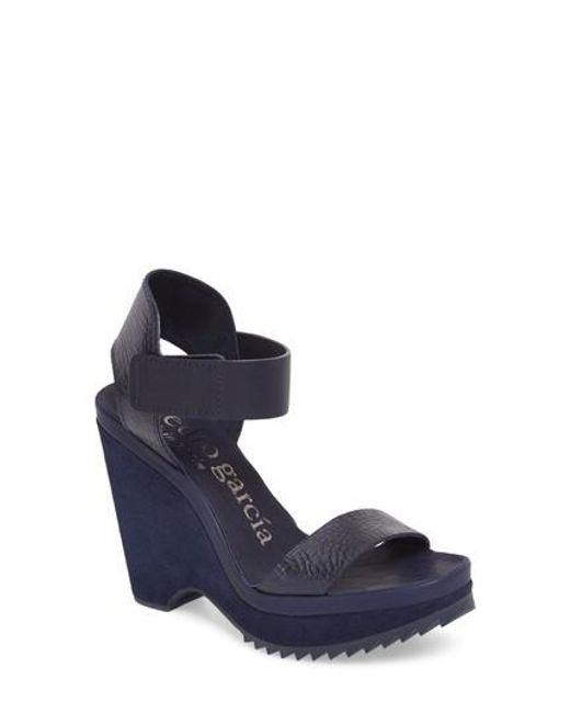 Pedro Garcia - Blue Vida Wedge Sandals - Lyst