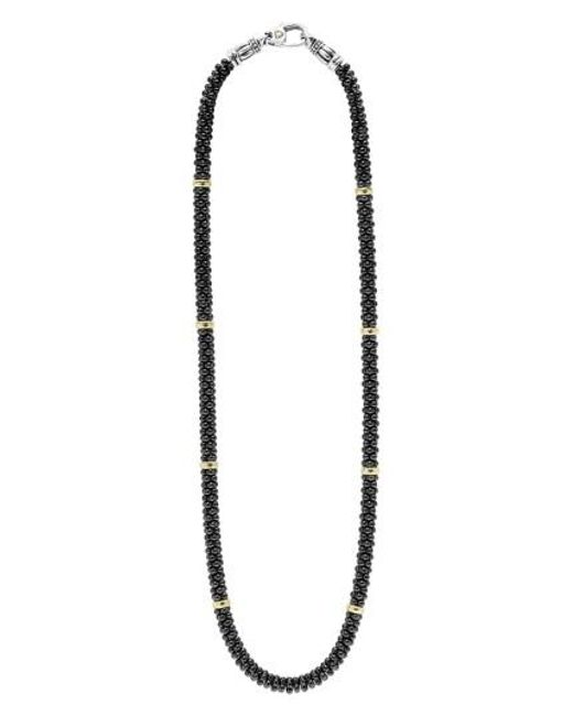 Lagos - 'black Caviar' Station Rope Necklace - Lyst