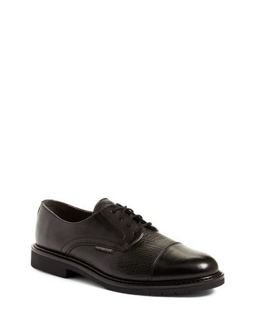 Mephisto | Black 'melchior' Cap Toe Derby for Men | Lyst