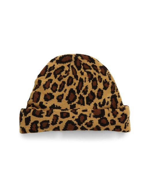 BP. Brown Leopard Spot Beanie