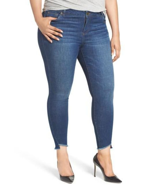 Kut From The Kloth   Blue Skinny Ankle Jeans   Lyst