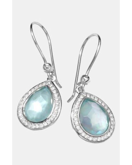 Ippolita | Blue 'stella' Small Teardrop Earrings | Lyst