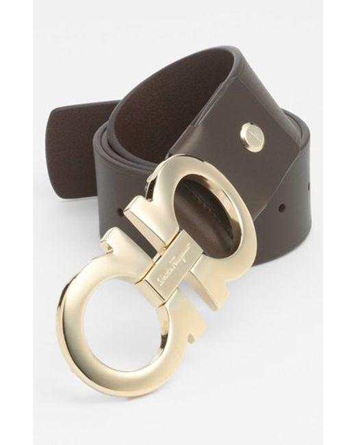 Ferragamo | Brown Calfskin Belt for Men | Lyst