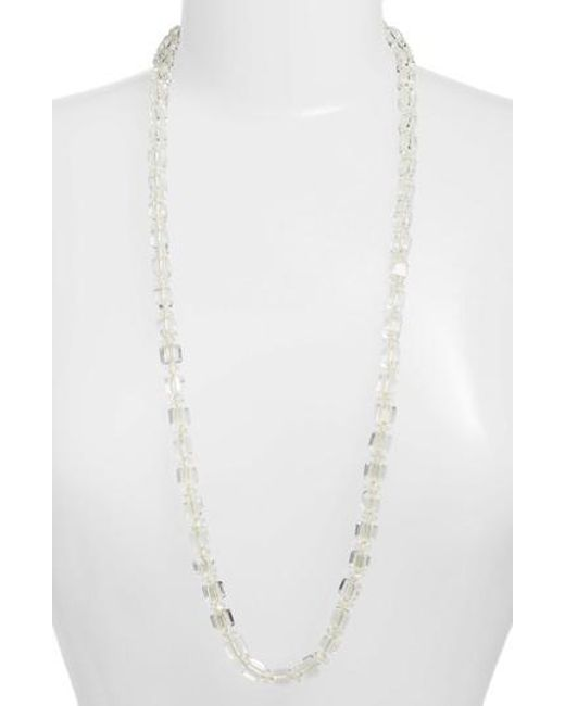 Lele Sadoughi - White Garden Light Necklace - Lyst
