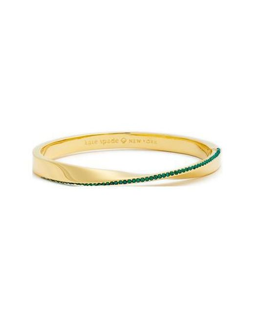 Kate Spade | Green Do The Twist Pave Bangle | Lyst