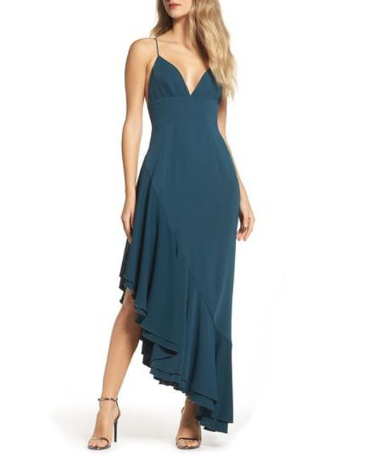 C/meo Collective - Green Temptation Asymmetrical Gown - Lyst