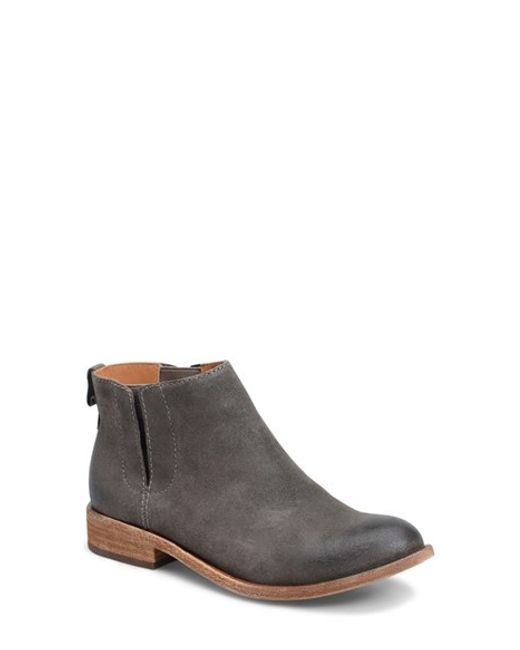 kork ease velma suede ankle boots in gray save 30 lyst
