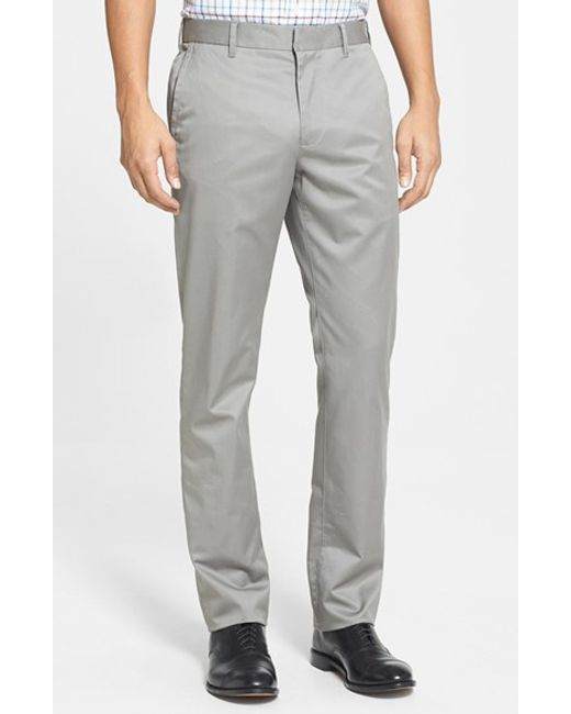 Bonobos | Gray 'weekday Warriors' Non-iron Slim Fit Cotton Chinos for Men | Lyst