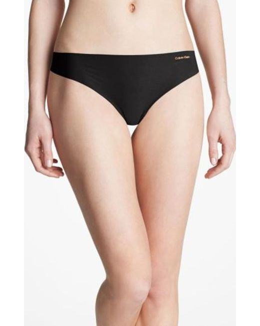 Calvin Klein | Black 'invisibles' Thong | Lyst