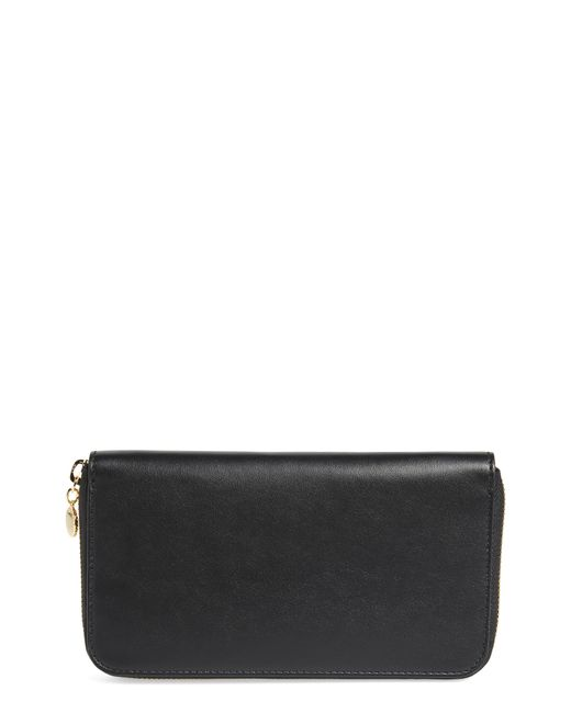 Stella McCartney - Black Alter Nappa Perforated Logo Faux Leather Wallet - Lyst
