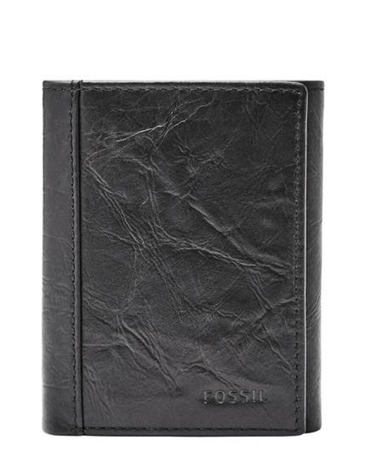 Fossil - Black Neel Leather Wallet for Men - Lyst