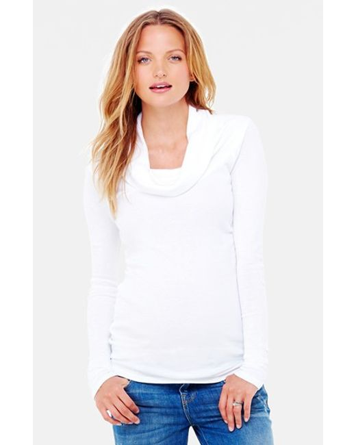 Ingrid & Isabel | White Ingrid & Isabel Cowl Neck Maternity Tee | Lyst