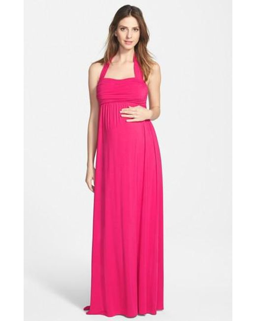 Ingrid & Isabel   Purple Ingrid & Isabel Convertible Maxi Maternity Dress   Lyst