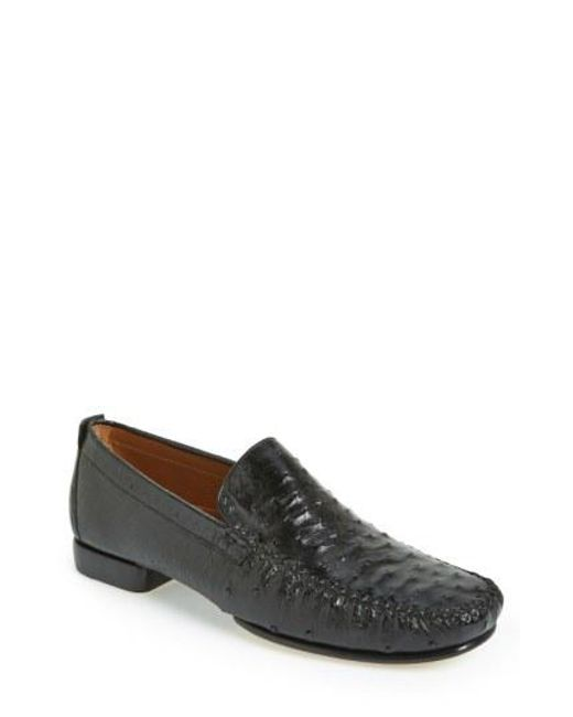 MezlanMen's 'Rollini' Ostrich Leather Loafer