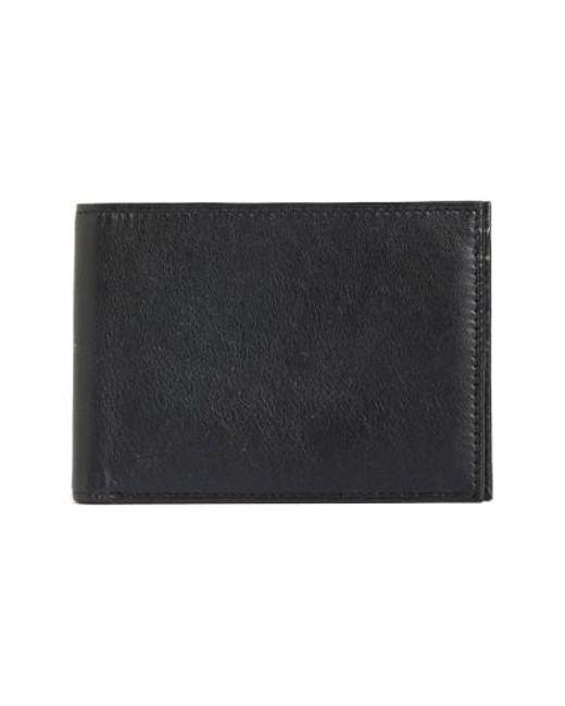 Bosca - Black Id Passcase Wallet for Men - Lyst