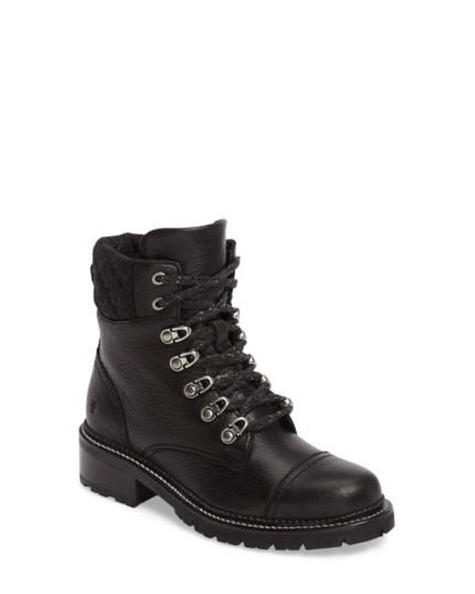 Frye | Black Samantha Water Resistant Hiking Boot | Lyst