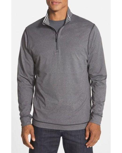 Cutter & Buck   Gray 'topspin' Drytec Half Zip Pullover for Men   Lyst
