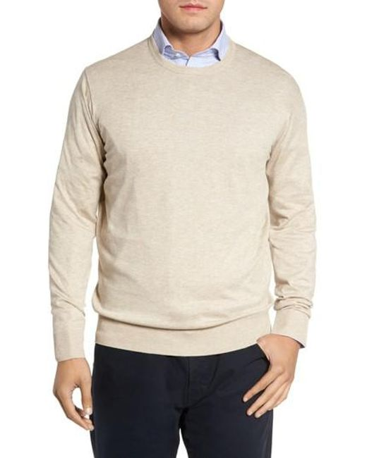 Peter Millar | Natural Crown Soft Cotton & Silk Sweater for Men | Lyst
