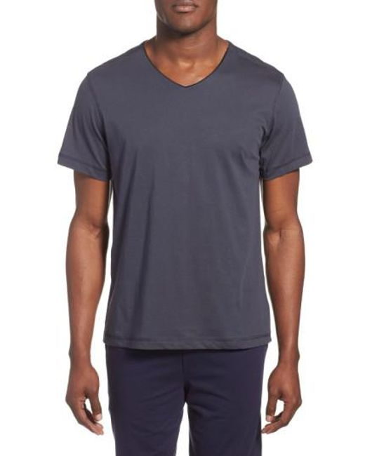 Daniel Buchler | Blue Peruvian Pima Cotton V-neck T-shirt for Men | Lyst