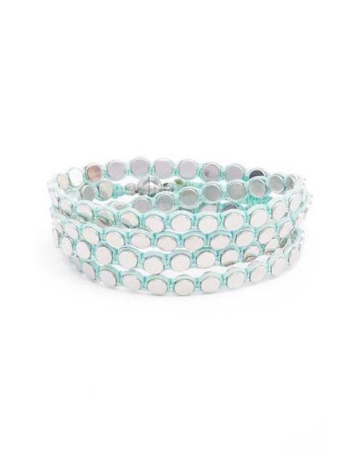 Serefina - Blue Wrap Disk Bracelet - Lyst