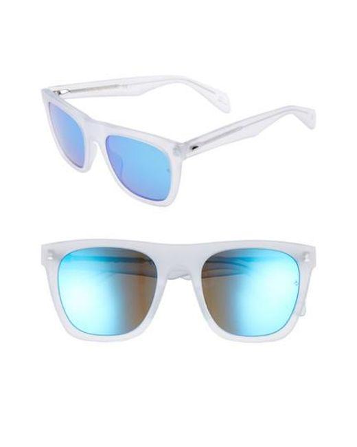 bbc21e96fe Lyst - Rag   Bone 54mm Polarized Sunglasses - in Blue for Men