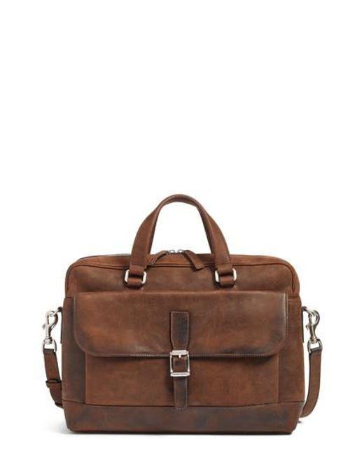 Frye | Brown Oliver Leather Briefcase for Men | Lyst