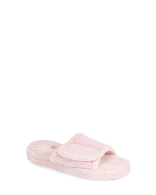 Acorn - Pink 'waffle Spa Slide' Slipper - Lyst