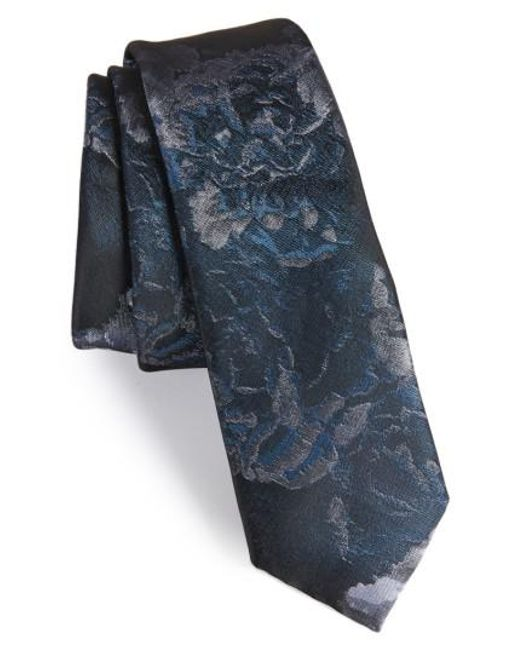 Topman | Blue Floral Tie for Men | Lyst
