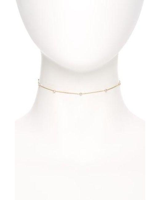 Mizuki   White Mikimoto Sea Of Beauty Pearl Chain Choker   Lyst