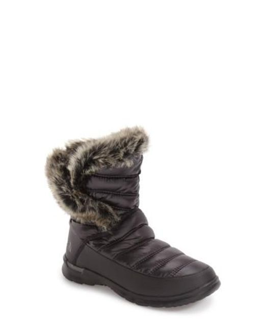The North Face   Gray Microbaffle Waterproof Thermoball Insulated Winter Boot   Lyst