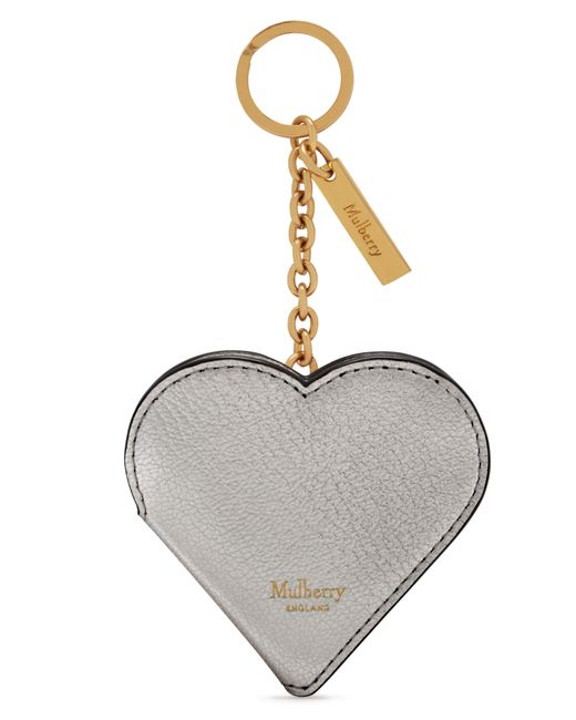 Mulberry - Multicolor Heart Locket Leather Key Ring - - Lyst