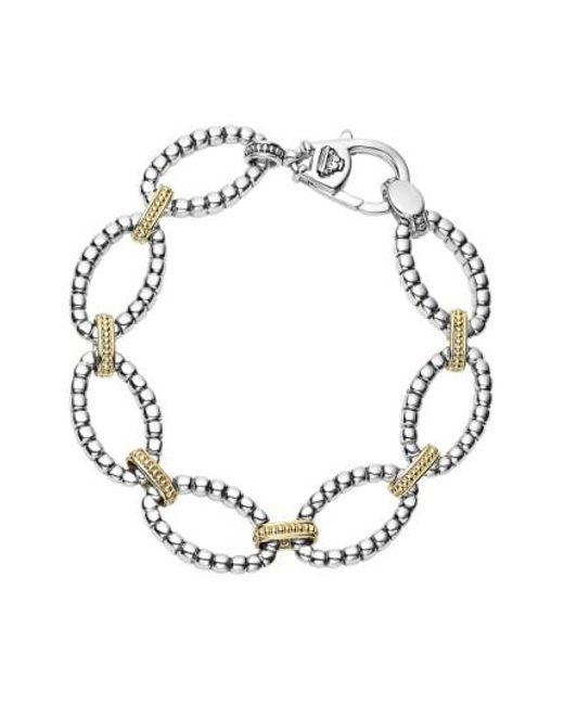 Lagos   Metallic Two-tone Link Bracelet   Lyst