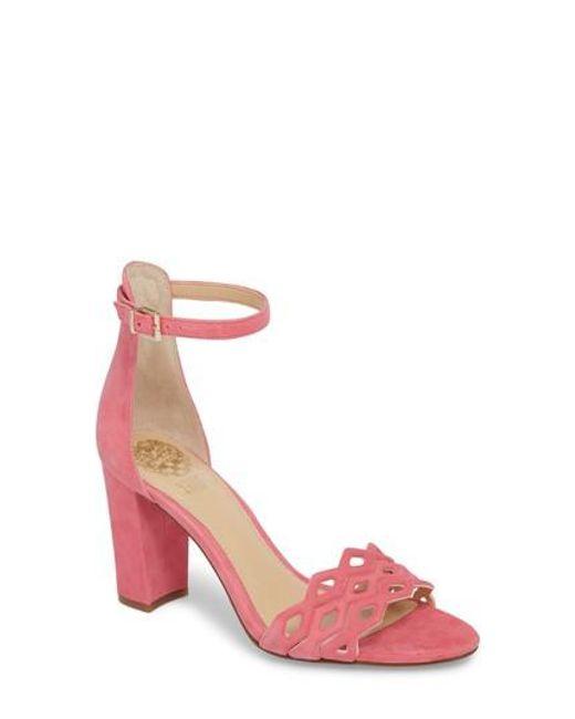 Vince Camuto - Pink Caveena Block Heel Sandal - Lyst