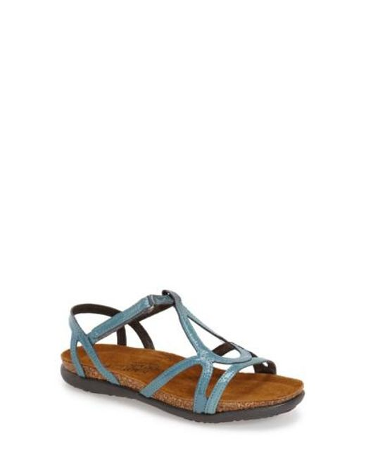 Naot | Blue Dorith Patent-Leather Sandals | Lyst