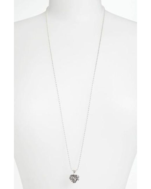 Lagos | Metallic 'hearts Of - Chicago' Long Pendant Necklace (online Only) | Lyst