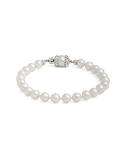 Nadri - Metallic Imitation Pearl Bracelet - Lyst