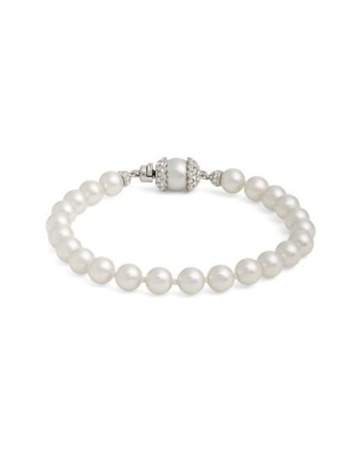Nadri | Metallic Imitation Pearl Bracelet | Lyst