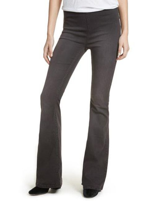 Free People - Multicolor Gummy Pull-on Flare Leg Jeans - Lyst