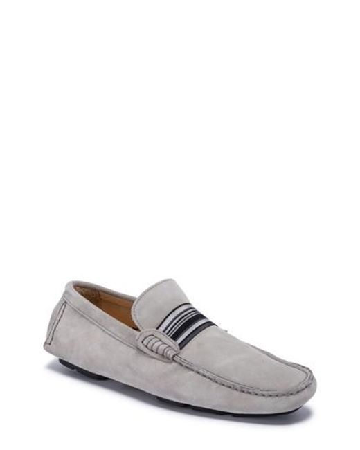 Bugatchi - Gray St. Tropez Driving Shoe for Men - Lyst