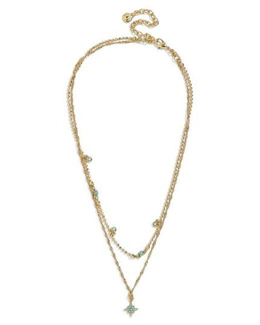 BaubleBar - Metallic Tempus Layered Necklace - Lyst