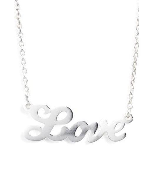 Argento Vivo | Metallic Love Pendant Necklace | Lyst