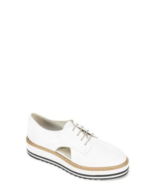 Summit - White Brody Leather Platform Oxford Shoes - Lyst