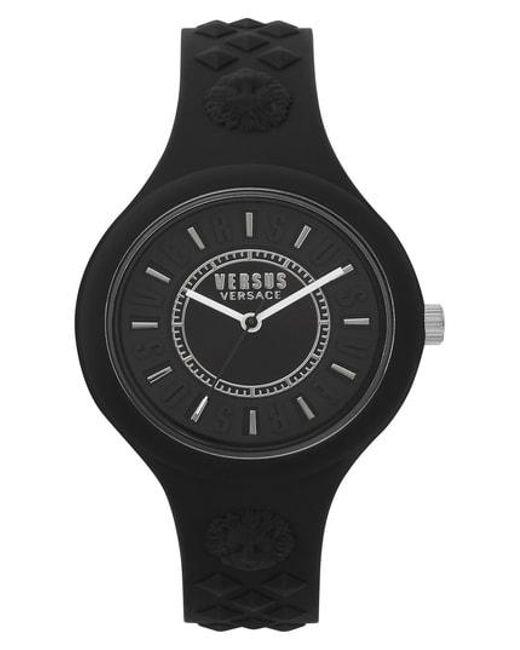Versus  - Black Fire Island Silicone Strap Watch - Lyst
