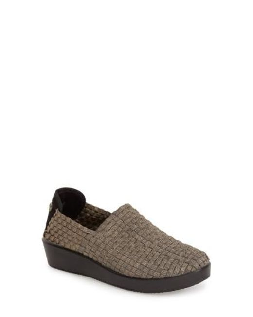 Bernie Mev | Metallic 'cha Cha' Wedge Slip-on | Lyst