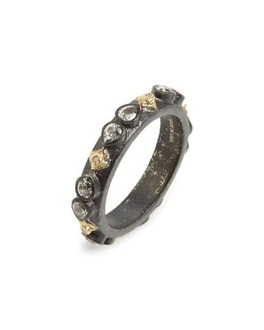 Armenta | Metallic Old World Sapphire Blackened Stack Ring | Lyst