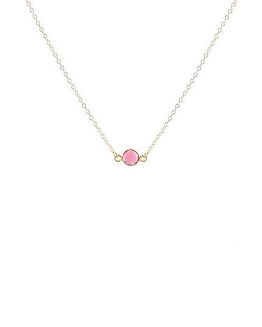 Kris Nations | Metallic Birthstone Necklace | Lyst
