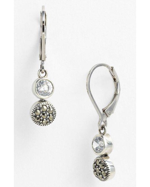 Judith Jack - Metallic Marcasite Earrings - Lyst